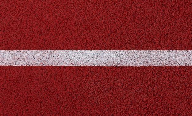 スタジアムのランニングトラックのライン