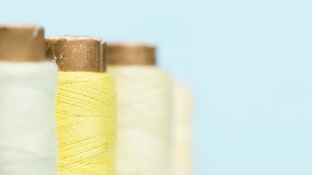 Line of yellow thread reals