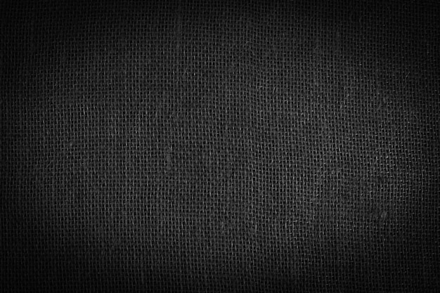 Linen cloth texture background. black and white backdrop. wrinkled linen fabric frame.