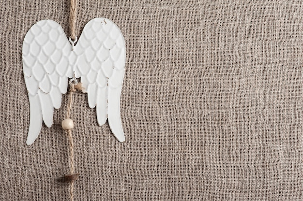 Linen fabric with angel wings