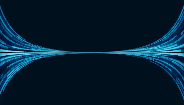 線と点のハイテクデジタル技術の概念