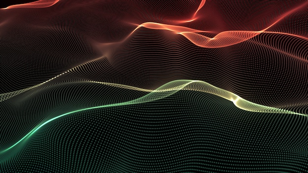 Lines background. abstract line. striped pattern, curve neon element. dynamic backdrop. presentation cover.green and red