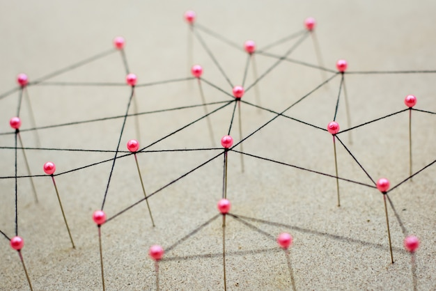Linking entities. network, networking, social media, internet communication abstract.