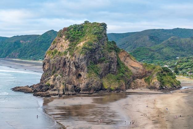 Lion rock and piha beach