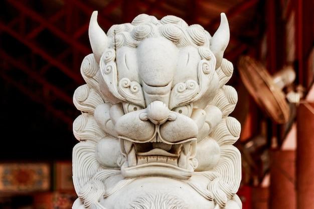 Lion statue in chaina temple
