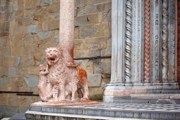 Lions supporting the columns, basilica of santa maria maggiore,