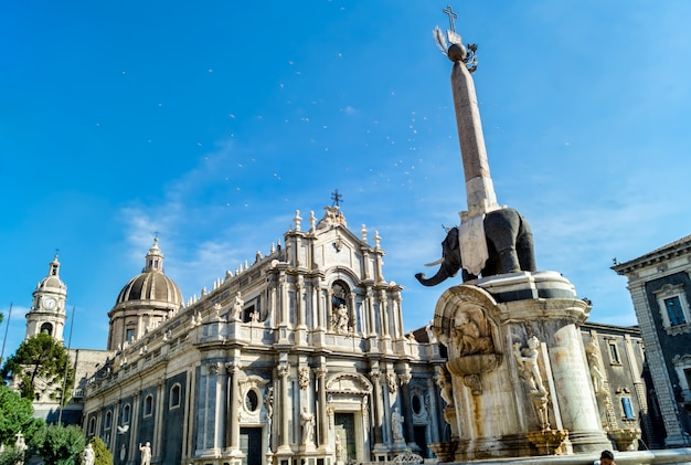 Liotru and cathedral in catania, sicily