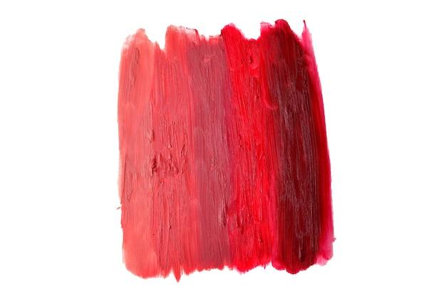 口紅のパターン。淡い色から濃い色の口紅の質感まで。
