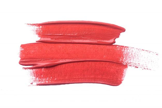 고립 된 립스틱 얼룩