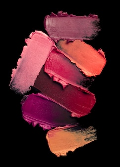 Lipstick smudge wave brown orange red nude texture background