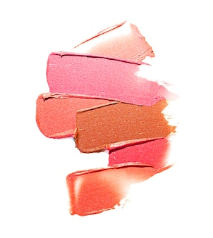 Lipstick smudge wave nude brown orange texture background