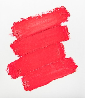 Lipstick swatch for make up