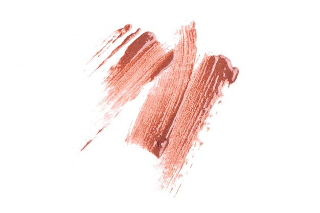 Lipstick on white background
