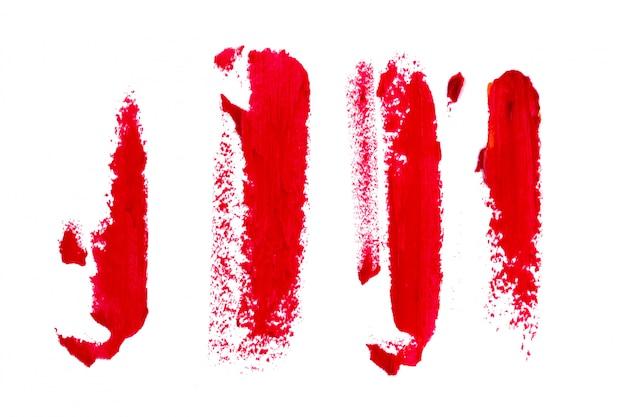Lipstick on white background