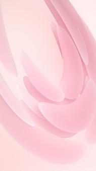 液体の抽象的な形の3 dレンダリングのイラスト。明るい背景にピンクの柔らかいゴム素材。クリエイティブなトレンディな壁紙。