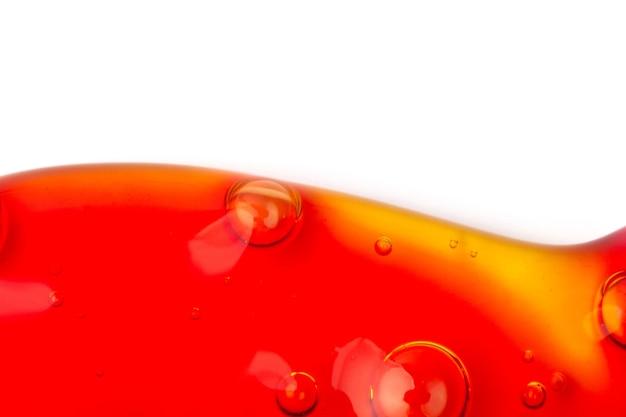 酸素の泡と液体アートの背景スライムの抽象的なテクスチャネオンの背景マクロ写真