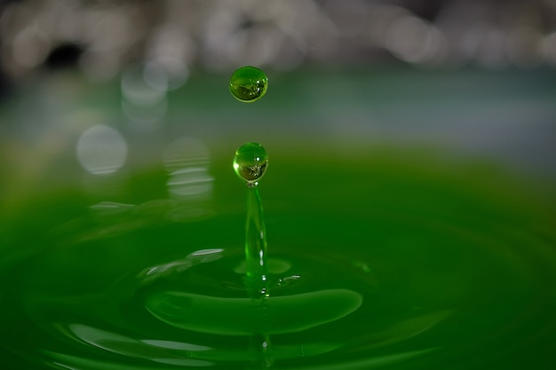 Liquid drop, water splashes, beautiful water with water drops background.