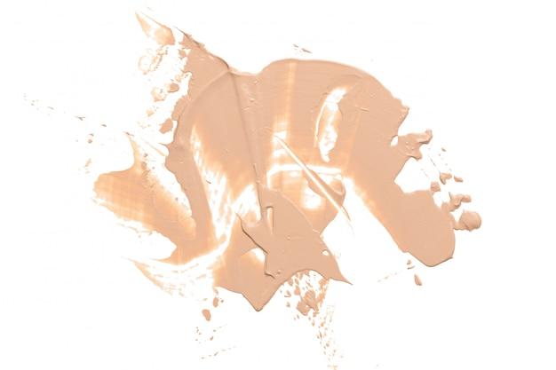 Liquid foundation smudge
