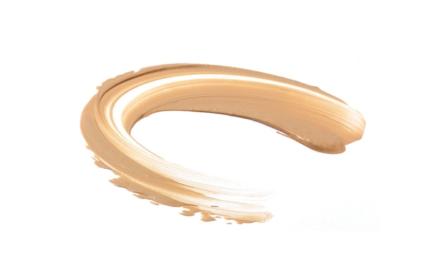 Liquid foundation swatch smudge smear isolated on white