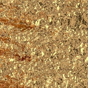 液体の金の波の背景。 3dレンダリング。贅沢なコンセプト。