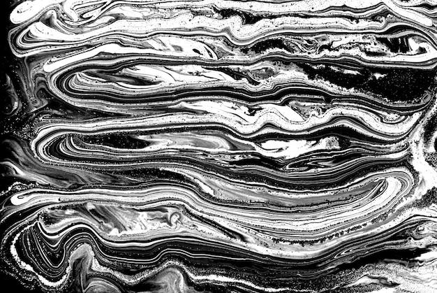 Liquid marble pattern. monochrome texture.