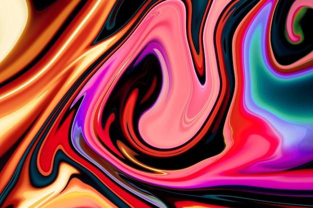 Жидкий мраморный дизайн текстуры, красочная мраморная поверхность, яркий абстрактный фон волны краски t