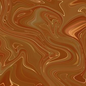 Жидкая мраморность коричневой краской текстуры фона.