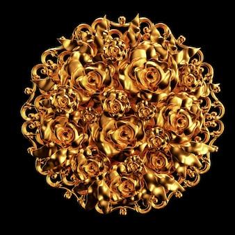 Liquid metal rose flowers