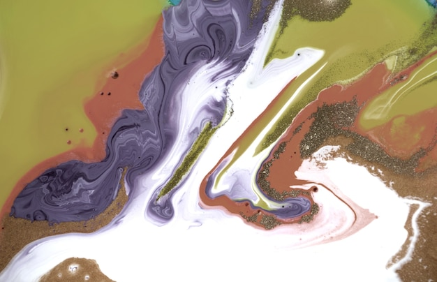 Liquid mixed ink abstract background marble imitation