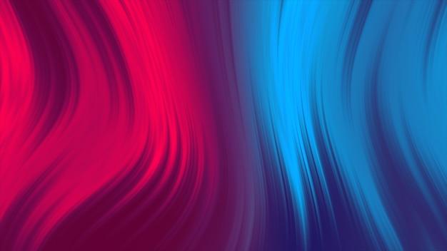 液体の赤と青の色の抽象的な背景。流体グラデーションアニメーション4k