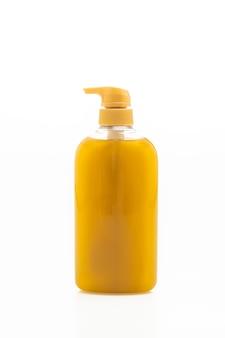 흰색 배경에 고립 된 액체 비누 병