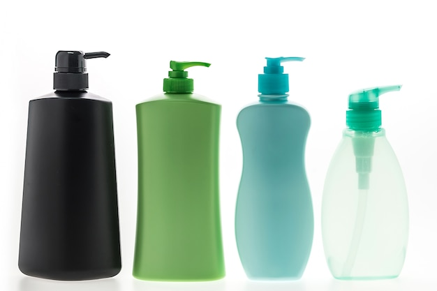Liquid soap containers with different shapes
