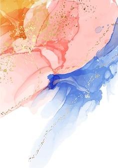 Жидкая акварель абстрактный фон