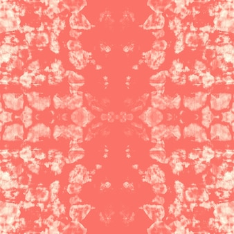 Liquid watercolor effect. coral boho abstract painting. tie dye seamless pattern.