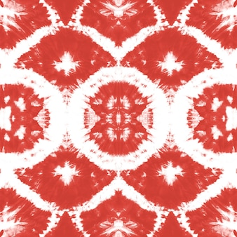 Эффект жидкой акварели. красный бохо абстрактная живопись. галстук краситель бесшовные модели.