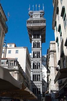 リスボン市ポルトガルsanta justa elevatorランドマークアーキテクチャ