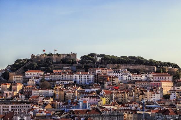 ポルトガルのセントジョージビューのリスボン要塞