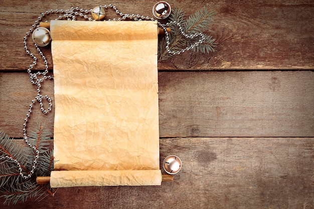 A list of christmas wishes on wooden surface