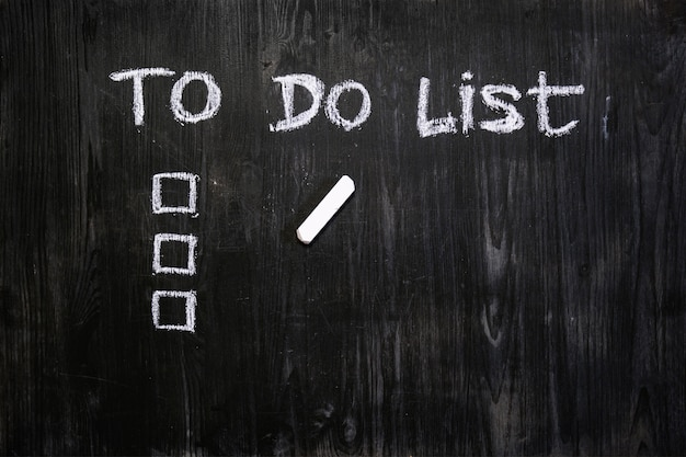 List of things to do on blackboard