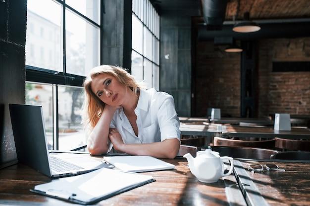 患者さんからの興味深い情報を聞く。昼間のカフェで室内に金髪の巻き毛を持つ実業家。