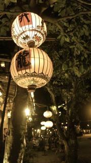 Lit lanterns in hoi an