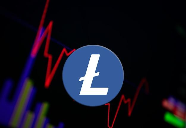 交換チャート上のlitecoinltc暗号通貨コイン成長チャート