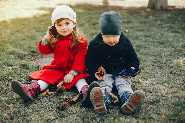 Litlle kids in a park