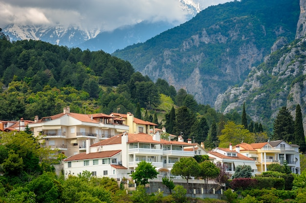 Litohoro town near mount olympus in greece
