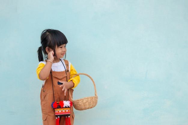 Little asian child.