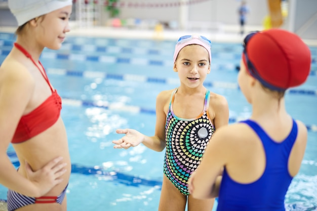 Little athletes in the pool