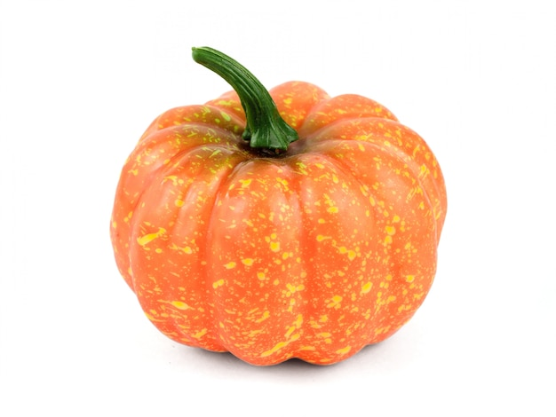 Little beautiful decorative pumpkin isolated on white background.