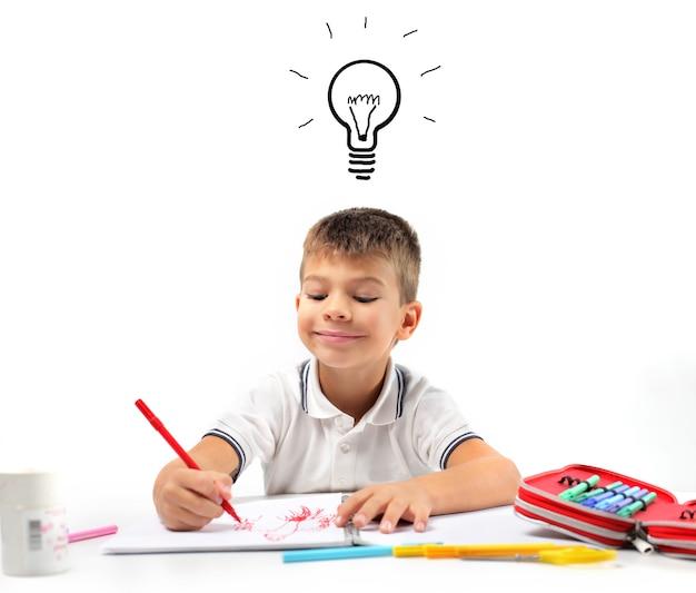 Little boy having an idea