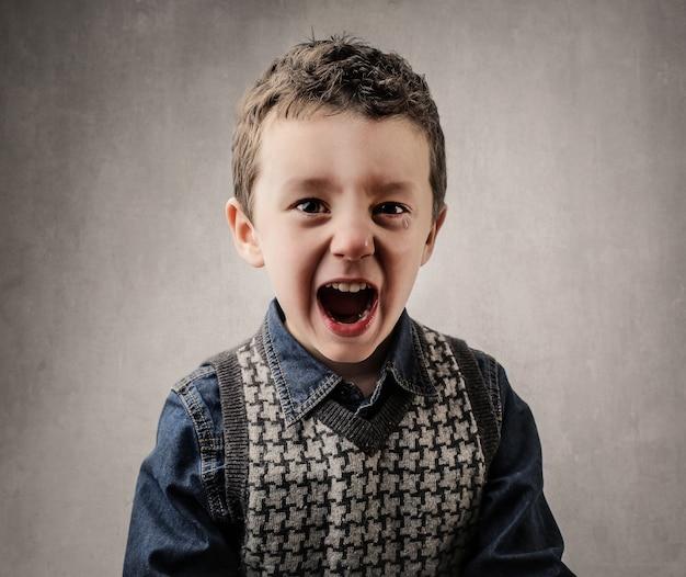 Маленький мальчик кричит