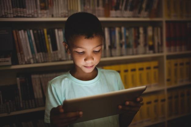 Little boy using a tablet